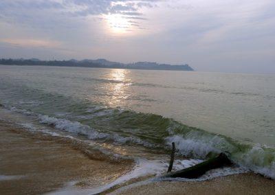 Pantai Chendor at dawn