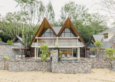 Double storey villas with pools