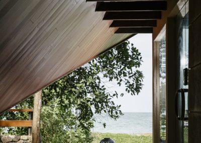 Beach Front Villa Entrance Deck
