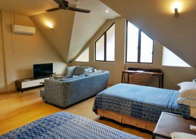 Corner Studio Living Area